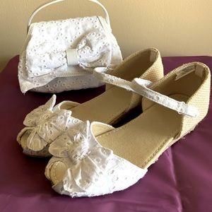Gymboree Espadrille Eyelet Shoes and Purse